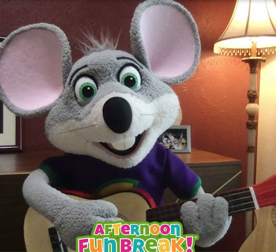 <p>The company changed up their mascot's look, yet again, in 2012. Chuck E. Cheese went from being a video game playing mouse to a rock star with a guitar. </p>