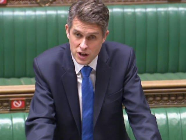 Education Secretary Gavin Williamson said he wants to make the school day mobile-free (House of Commons/PA)