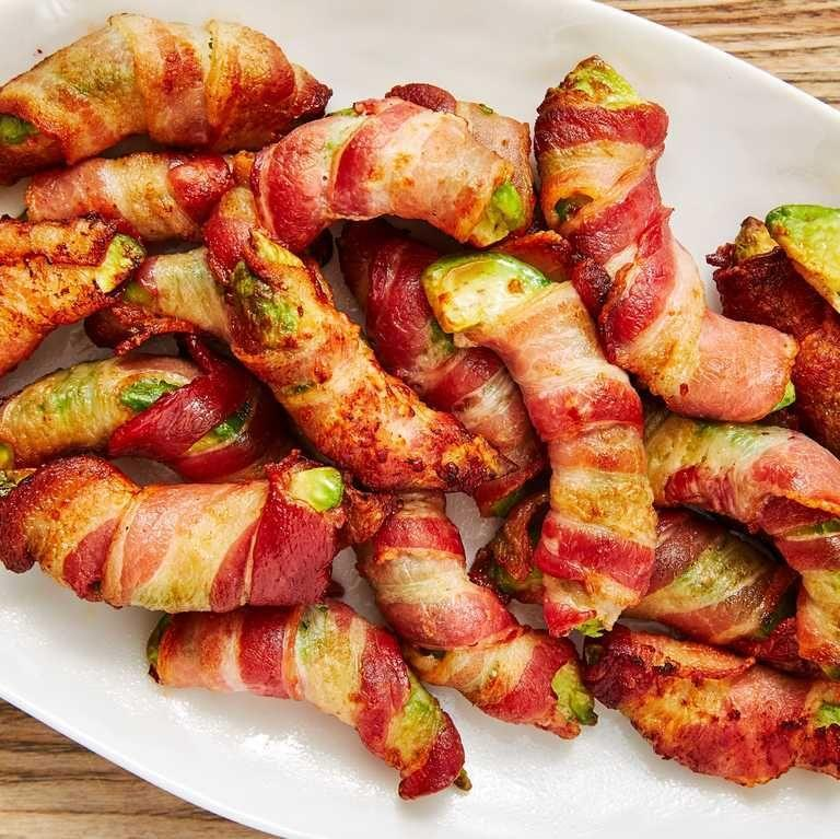 """<p>Meet your new favorite fry. An irresistible app!</p><p><em><a href=""""https://www.delish.com/cooking/recipe-ideas/recipes/a48261/bacon-avocado-fries-recipe/"""" rel=""""nofollow noopener"""" target=""""_blank"""" data-ylk=""""slk:Get the recipe from Delish »"""" class=""""link rapid-noclick-resp"""">Get the recipe from Delish »</a></em></p><p><strong>RELATED: </strong><a href=""""https://www.goodhousekeeping.com/food-recipes/easy/g122/easy-appetizers/"""" rel=""""nofollow noopener"""" target=""""_blank"""" data-ylk=""""slk:51 Easy Appetizers and Snacks to Get the Party Started"""" class=""""link rapid-noclick-resp"""">51 Easy Appetizers and Snacks to Get the Party Started</a><br></p>"""