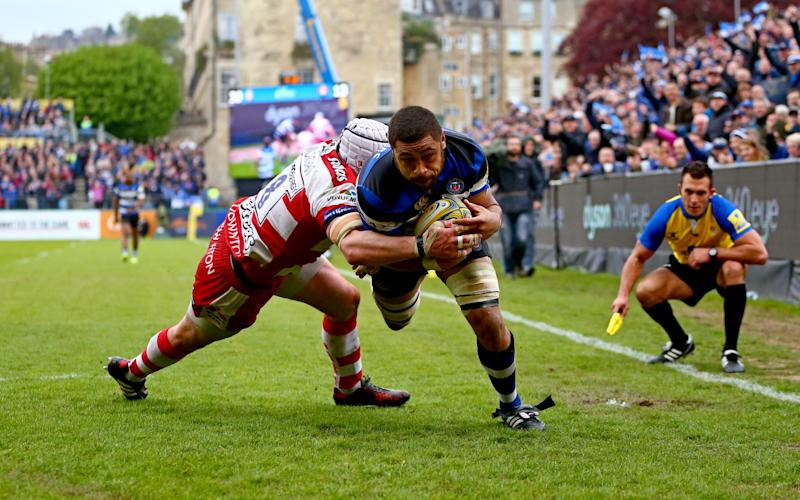Taulupe Faletau dives for the line - Credit: Getty Images