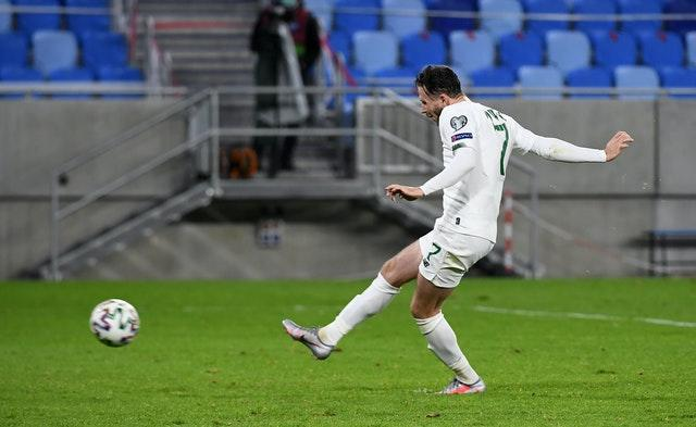 Alan Browne saw his penalty saved in the shoot-out
