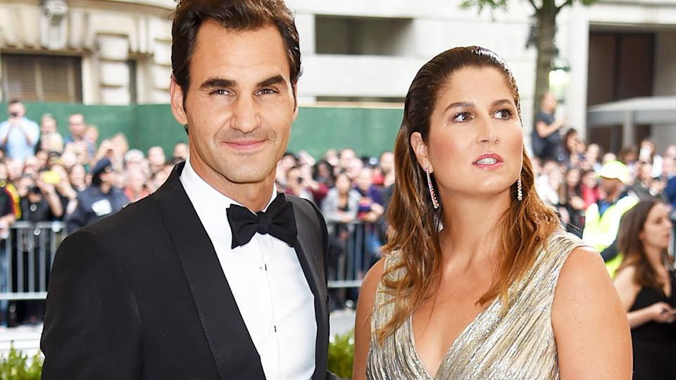 Roger and Mirka Federer, pictured here at the Met Gala in New York in 2017.