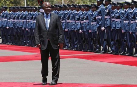 FILE PHOTO: Tanzania's President Magufuli leaves after inspecting a guard of honour during his official visit to Nairobi