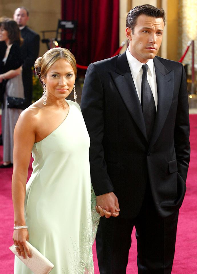 """<p>J.Lo has been divorced three times, and that doesn't include her most infamous relationships with Ben Affleck and Sean """"Diddy"""" Combs. """"I feel like, when we're kids, you're sold into this fairy tale of what love is,"""" she told <a rel=""""nofollow"""" href=""""http://www.today.com/popculture/jennifer-lopez-let-down-true-love-deals-whether-she-worthy-1D80257870""""><i>Today</i></a> in 2014 while promoting her book, <i>True Love</i>, about how she finally learned to love herself. """"And it's so different than that."""" Three years later, she's still dating (having added Casper Smart to her list of exes) and has most recently <a rel=""""nofollow"""">been seen getting flirty</a> with the 17-years-younger Drake. (Photo: Getty Images) </p>"""