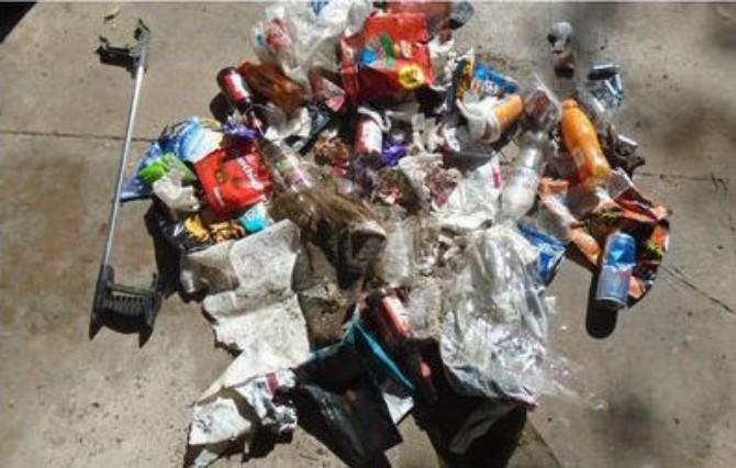 High quantities of litter were left behind by visitors to the Manifold Valley last weekend. (BPM media)