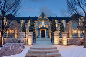 An iconic castle listed at $9.75M by Corinne Poffenroth, one of Calgary's highest priced listings