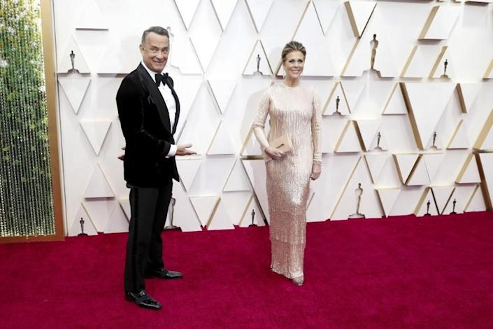 HOLLYWOOD, CA – February 9, 2020: Tom Hanks and Rita Wilson arriving at the 92nd Academy Awards on Sunday, February 9, 2020 at the Dolby Theatre at Hollywood & Highland Center in Hollywood, CA. (Jay L. Clendenin / Los Angeles Times)