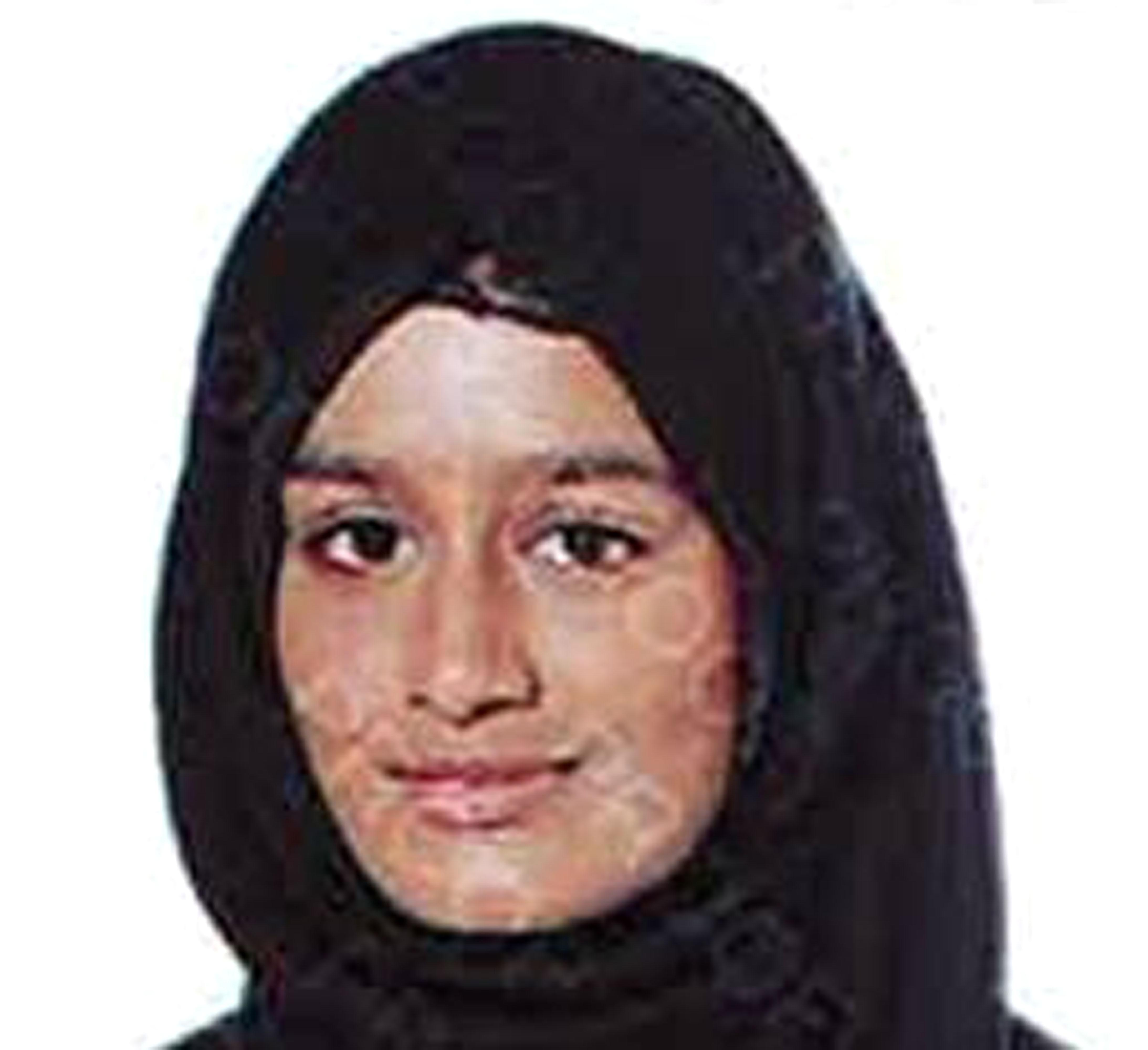 BEST QUALITY AVAILABLE Undated handout photo issued by the Metropolitan Police of Shamima Begum,15 who is feared to have travelled to Syria via Turkey.