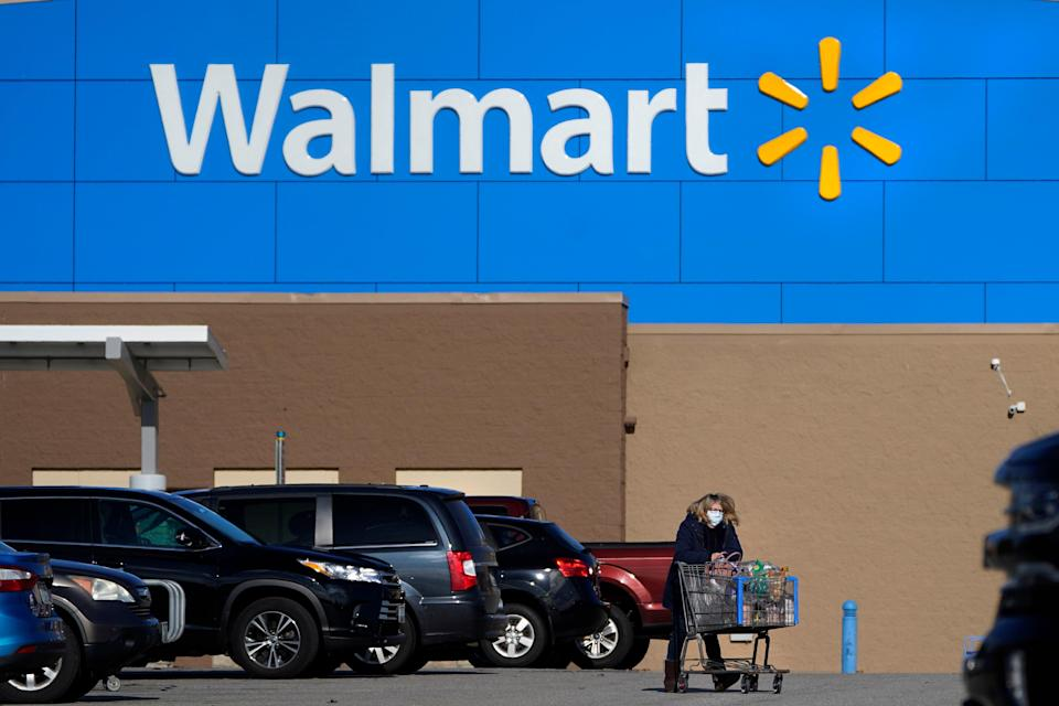 <p>Walmart has become the latest US retailer to lift its indoor mask mandate for vaccinated people after new advice from the CDC</p> (AP)