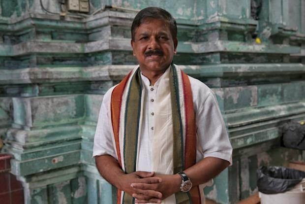 Telugu Association of Malaysia (TAM) president Datuk Dr Achaiah Kumar Rao at a temple in Puchong last Saturday.