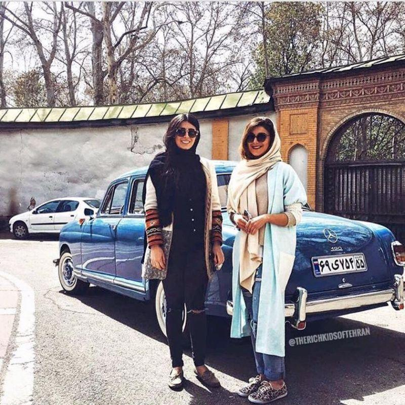 While social and economic inequality has brought protestors onto the streets, others in Iran seem happy to share images of their opulent lifestyle via social media