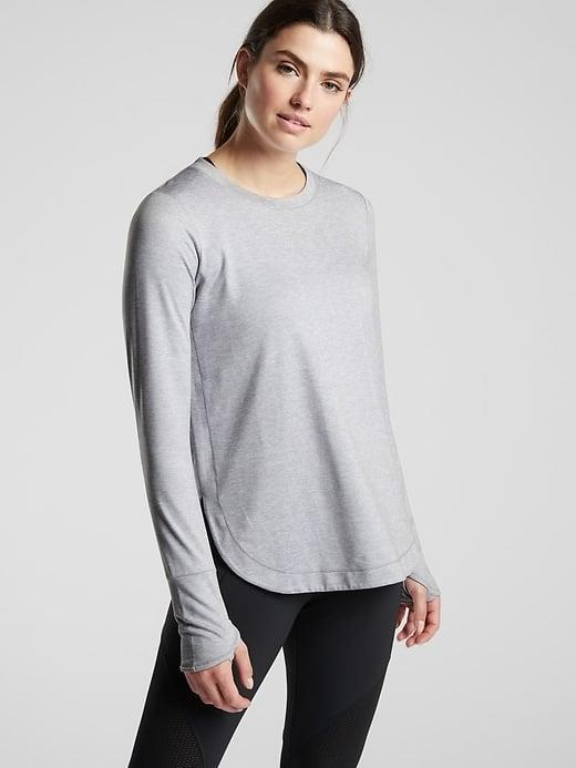 <p>We'd pick the <span>Athleta Uptempo Top</span> ($69) as a sweat-wicking layer for any urban or nature hikes. </p>