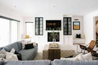 """<p>The key to a relaxing basement family room is tons of seating! Make the most of your space with an oversized sectional sofa that will allow everyone to spread out in style. Another pro tip: Opt for an ottoman over a traditional coffee table so you and your family can put up your feet and relax. </p><p><strong>See more at <a href=""""https://houseofjadeinteriors.com/2019/07/kaysville-new-build-basement-reveal/"""" rel=""""nofollow noopener"""" target=""""_blank"""" data-ylk=""""slk:House of Jade Interiors"""" class=""""link rapid-noclick-resp"""">House of Jade Interiors</a>.</strong></p><p><a class=""""link rapid-noclick-resp"""" href=""""https://go.redirectingat.com?id=74968X1596630&url=https%3A%2F%2Fwww.walmart.com%2Fip%2FLinon-Isabelle-Linen-Square-Tufted-Ottoman-Natural%2F45467869&sref=https%3A%2F%2Fwww.thepioneerwoman.com%2Fhome-lifestyle%2Fdecorating-ideas%2Fg34763691%2Fbasement-ideas%2F"""" rel=""""nofollow noopener"""" target=""""_blank"""" data-ylk=""""slk:SHOP OTTOMAN TABLES"""">SHOP OTTOMAN TABLES</a></p>"""