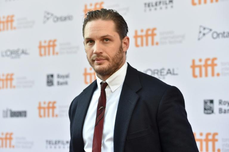 Tom Hardy often plays a villain or at least an anti-hero in films like 'The Dark Knight Rises', 'Venom' and 'Mad Max: Fury Road' (AFP/Alberto E. Rodriguez)