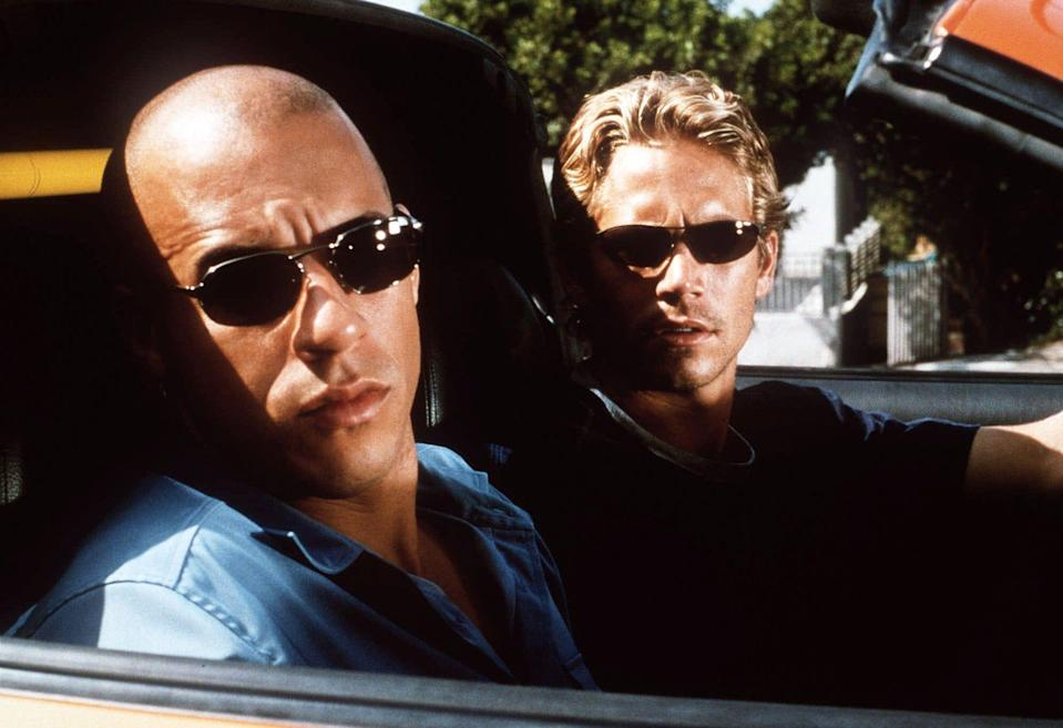 """Vin Diesel and Paul Walker in the original """"The Fast and the Furious"""" from 2001."""