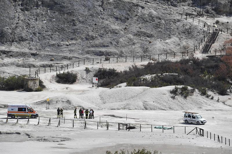 The boy and his parents died at the crater near Naples (Picture: AP)