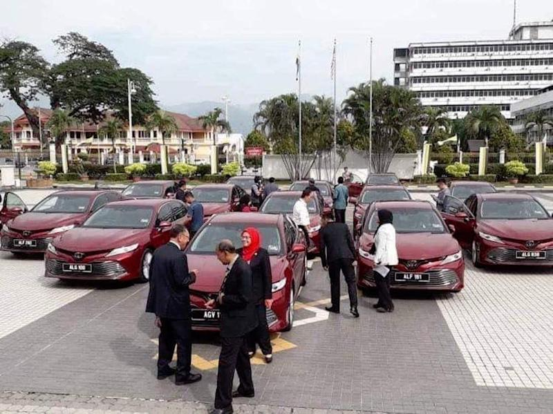 The Perak state government reportedly spent a total of RM1.74 million to purchase the cars. — Picture via Facebook/RomyIrwanShah
