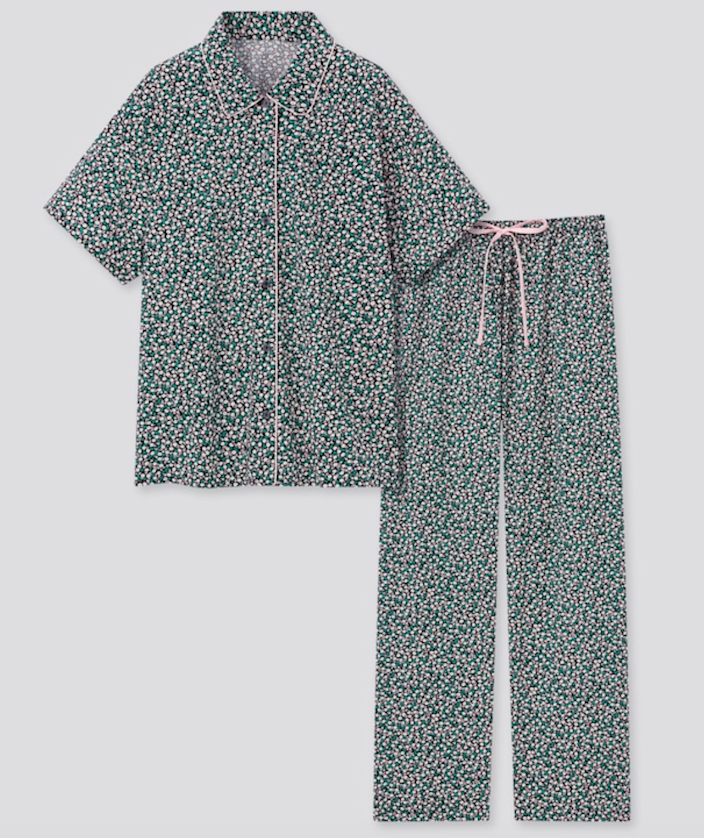 """<h2><a href=""""https://www.uniqlo.com/us/en/women-joy-of-print-soft-stretch-pajamas-434511.html"""" rel=""""nofollow noopener"""" target=""""_blank"""" data-ylk=""""slk:Joy Of Print Soft Stretch Pajamas"""" class=""""link rapid-noclick-resp"""">Joy Of Print Soft Stretch Pajamas<br></a></h2><br>Keep her cozy and cool with this beautifully printed pajama set.<br><br><strong>Joy Of Print</strong> Soft Stretch Pajamas, $, available at <a href=""""https://go.skimresources.com/?id=30283X879131&url=https%3A%2F%2Fwww.uniqlo.com%2Fus%2Fen%2Fwomen-joy-of-print-soft-stretch-pajamas-434511.html"""" rel=""""nofollow noopener"""" target=""""_blank"""" data-ylk=""""slk:Uniqlo"""" class=""""link rapid-noclick-resp"""">Uniqlo</a>"""