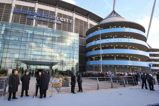 The Colin Bell Stand at the Etihad Stadium