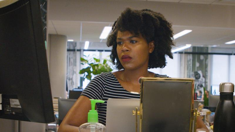 """""""Being able to tip-toe back and forth across a line between 'now I'm Black, now I'm white, now I'm multiracial' -- that's not identity. You're playing a game,"""" says HuffPost Black Voices Editor Taryn Finley. (Photo: HuffPost)"""
