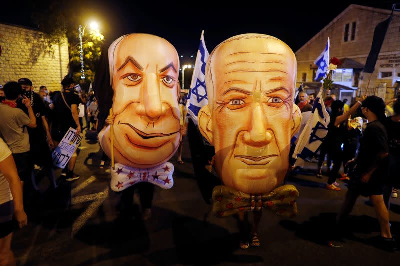 Israelis protest against Netanyahu's alleged corruption and economic hardship from COVID-19 lockdowns