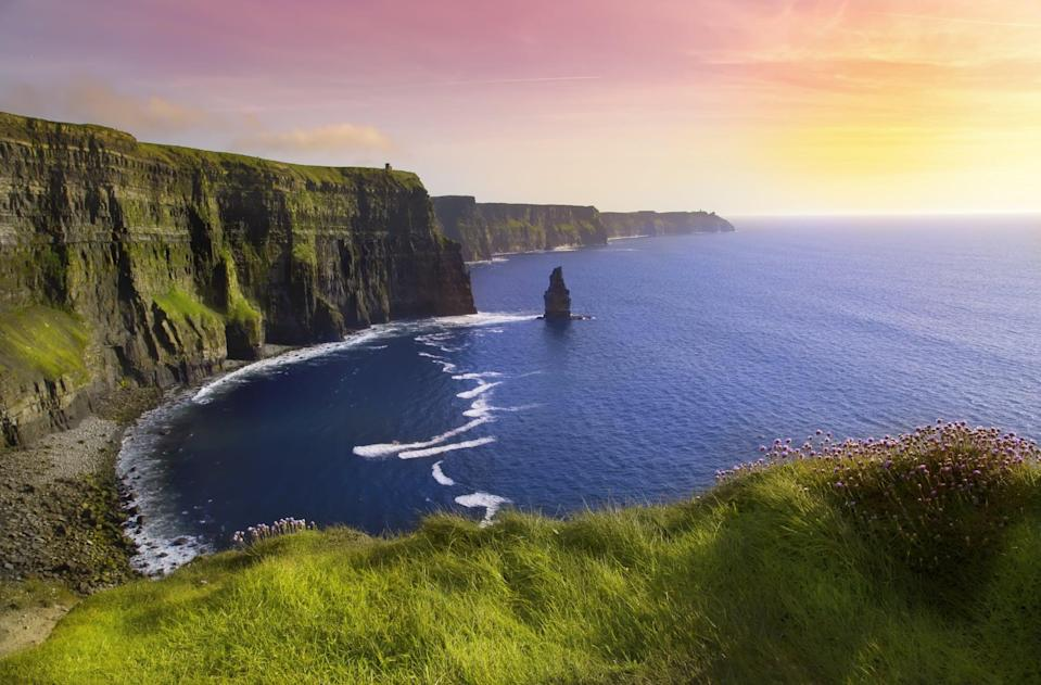 """<p>Another must-see spot that's not too far from Galway is Co. Clare. You can also take a <a href=""""https://lallytours.com/tours/tours-from-galway/cliffs-of-moher-burren-day-tour-from-galway/"""" class=""""link rapid-noclick-resp"""" rel=""""nofollow noopener"""" target=""""_blank"""" data-ylk=""""slk:day bus trip here from Galway"""">day bus trip here from Galway</a>, but I think both bus and car are perfect ways to see the sites, so you really can't lose. Here, your stops will include Dunguaire Castle in the charming village of Kinvara, the Cliffs of Moher, The Burren, the town of Lisdoonvarna (home of Ireland's infamous <a href=""""https://www.matchmakerireland.com/"""" class=""""link rapid-noclick-resp"""" rel=""""nofollow noopener"""" target=""""_blank"""" data-ylk=""""slk:Matchmaking Festival"""">Matchmaking Festival</a>), the tiny town of Doolin, and more. While in Doolin, make sure you grab lunch at <a href=""""http://gusoconnorsdoolin.com/"""" class=""""link rapid-noclick-resp"""" rel=""""nofollow noopener"""" target=""""_blank"""" data-ylk=""""slk:Gus O'Connor's pub"""">Gus O'Connor's pub</a> and freshly-made fudge from The Doolin Chocolate Shop (your life will never be the same).</p>"""