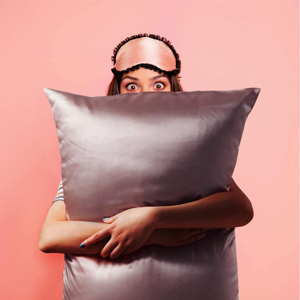 Amazon shoppers can't get enough of these affordable satin pillowcases. Image via Amazon.