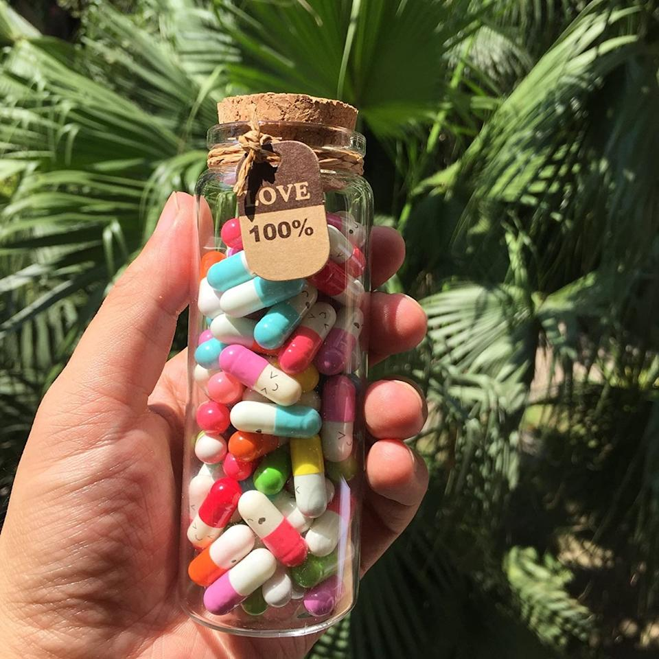 Personalized messages in a pill bottle