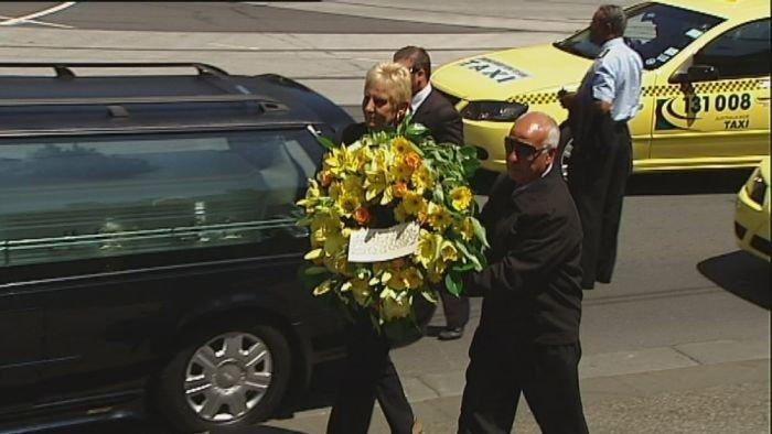 Taxi owners  stage mock funeral procession
