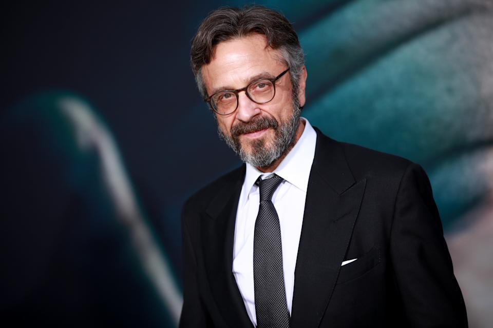 "HOLLYWOOD, CALIFORNIA - SEPTEMBER 28:  Marc Maron attends the premiere of Warner Bros Pictures ""Joker"" on September 28, 2019 in Hollywood, California. (Photo by Rich Fury/Getty Images)"