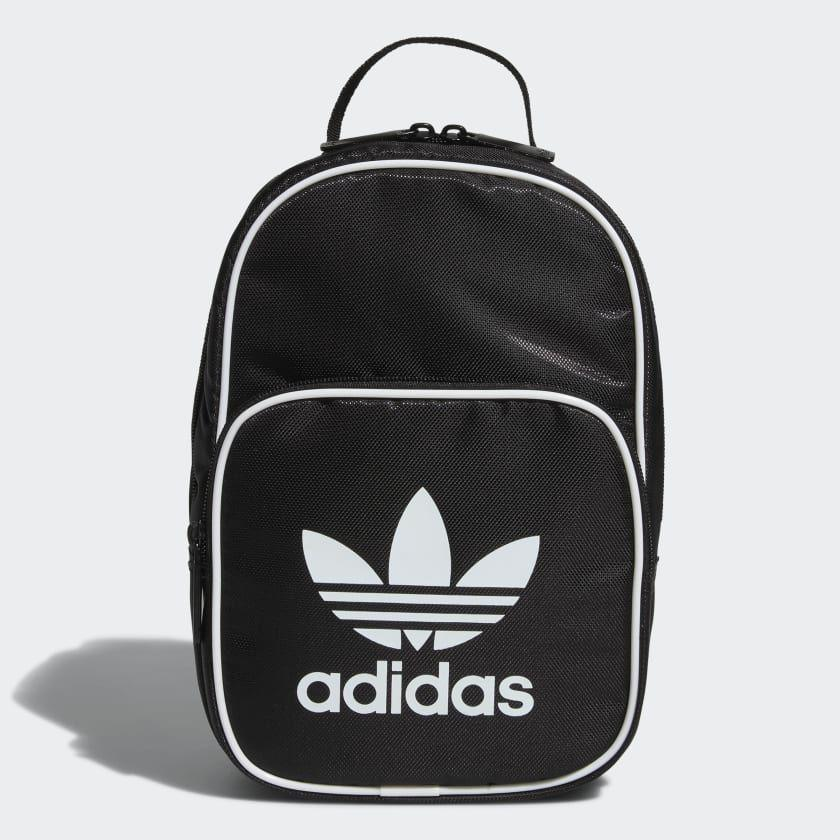 """<p><strong>Adidas</strong></p><p>adidas.com</p><p><strong>$25.00</strong></p><p><a href=""""https://go.redirectingat.com?id=74968X1596630&url=https%3A%2F%2Fwww.adidas.com%2Fus%2Fsantiago-lunch-bag%2FCJ9045.html&sref=https%3A%2F%2Fwww.seventeen.com%2Flife%2Ffood-recipes%2Fg28212497%2Fcute-lunch-boxes%2F"""" rel=""""nofollow noopener"""" target=""""_blank"""" data-ylk=""""slk:Shop Now"""" class=""""link rapid-noclick-resp"""">Shop Now</a></p><p>Clip a strap onto this sporty insulated bag for major hypebeast vibes. </p>"""