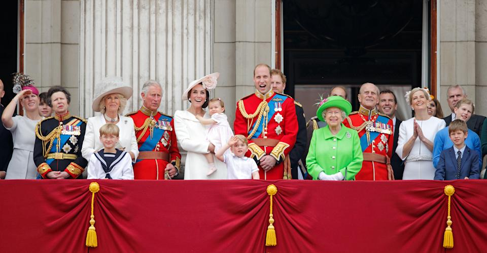 The Royal Family at the Trooping of the Colour