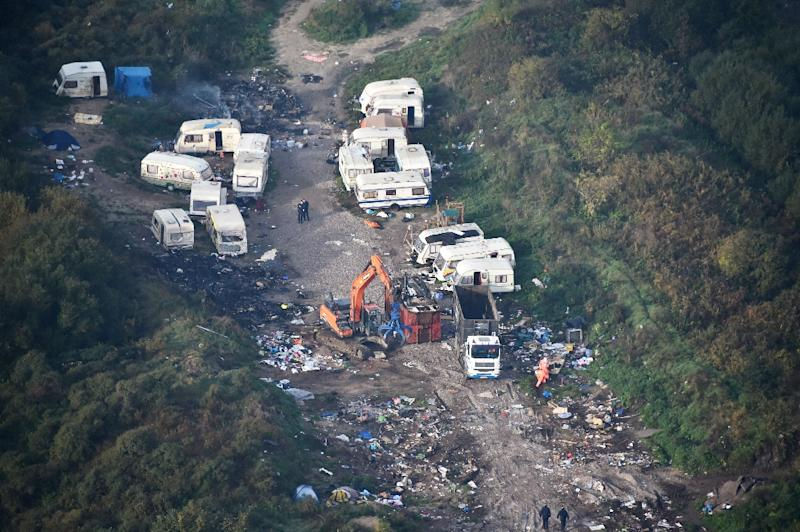 """Last month, French authorities demolished the notorious """"Jungle"""" shantytown in the northern port city of Calais (AFP Photo/Philippe Huguen                     )"""