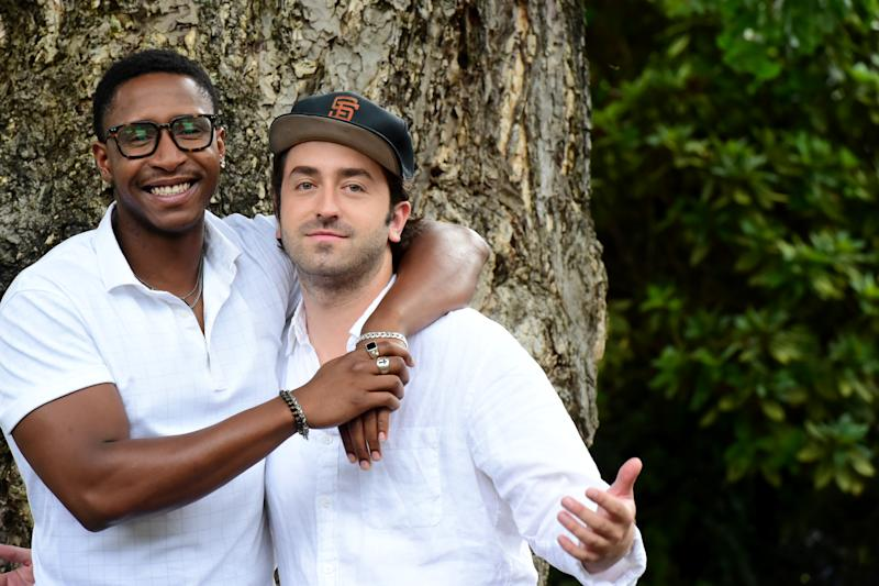 LOCARNO, SWITZERLAND - AUGUST 12: (L - R)Actor Jimmie Fails and Director Joe Talbot attend the 'The Last Black Man in San Francisco' photocall during the 72nd Locarno Film Festival on August 12, 2019 in Locarno, Switzerland. (Photo by Pier Marco Tacca/Getty Images)
