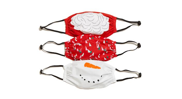 3 Pack Reusable & Adjustable Christmas Kids' Face Coverings