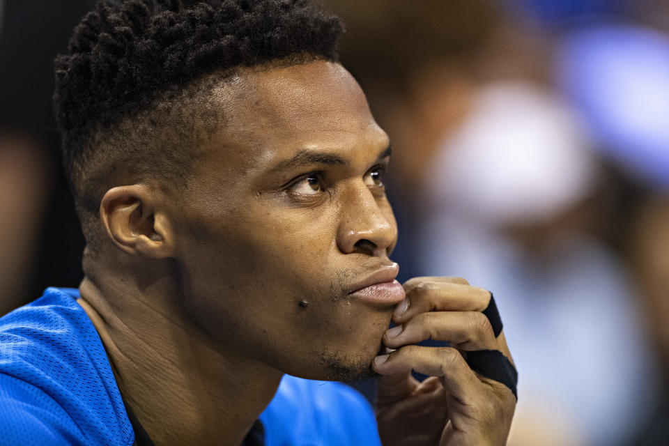 Russell Westbrook may be the next superstar on the move this summer. (Getty Images)