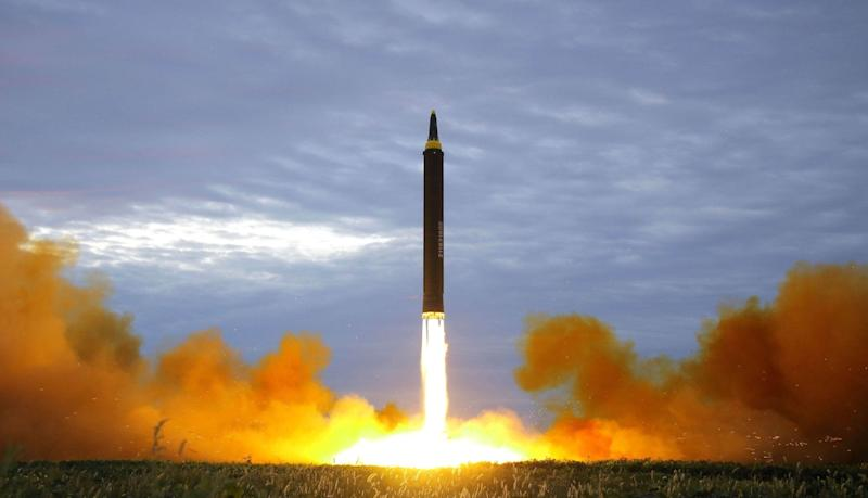 hwasong nuclear ballistic missile icbm test launch north korea kcna