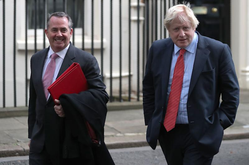 Liam Fox and Boris Johnson (DANIEL LEAL-OLIVAS via Getty Images)