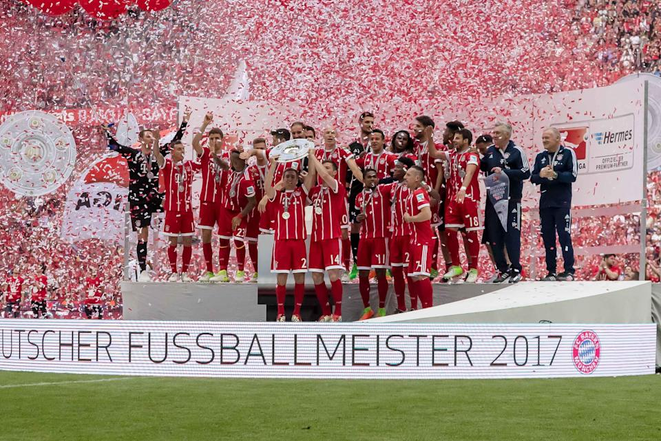 Bayern Munich celebrated its fifth consecutive German Bundesliga title in 2017.