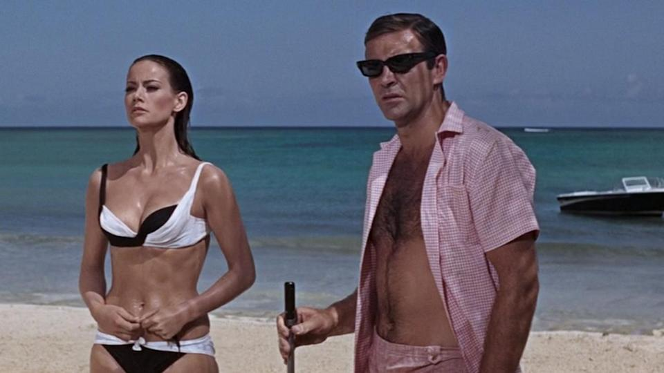 <p> Thunderball gets the mix of Bond ingredients just right. While the overarching plot is relatively generic - it's about the theft of nuclear warheads from a downed bomber - every other element is brilliantly done. Connery is very much hitting his stride in this movie, playing Bond with a confidence and style unmatched by most other outings, and Emilio Largo is a perfect foil, having just the right amount of megalomania and sadism to make him a great villain. While Claudine Auger's Domino isn't the smartest or most charismatic Bond girl, she's perhaps the most perfect pin-up, and a delight to see on screen. There are sharks, casino scenes, a brilliant opening scene in a spa retreat, a jetpack, and some hot SPECTRE intrigue. The pace ticks along at a good speed, the soundtrack is wonderful, and the theme tune is a Tom Jones belter. Few 007 movies put all the pieces together as expertly as Thunderball, and it's only the lack of a genuinely clever plot (beyond the theft of the pilot's identity used to steal the bomber) that holds this back from being top 3 material. </p> <p> <strong>Bond:</strong> Sean Connery<br> <strong>Theme tune:</strong> Thunderball by Tom Jones </p>