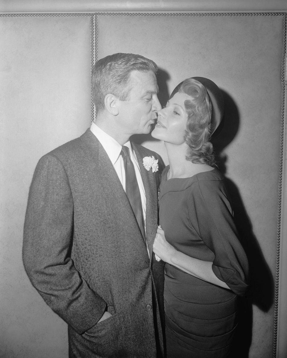 <p>Rita Hayworth married her fifth and final husband, James Hill, in 1958. The couple was married in Rita's Beverly Hills home.</p>