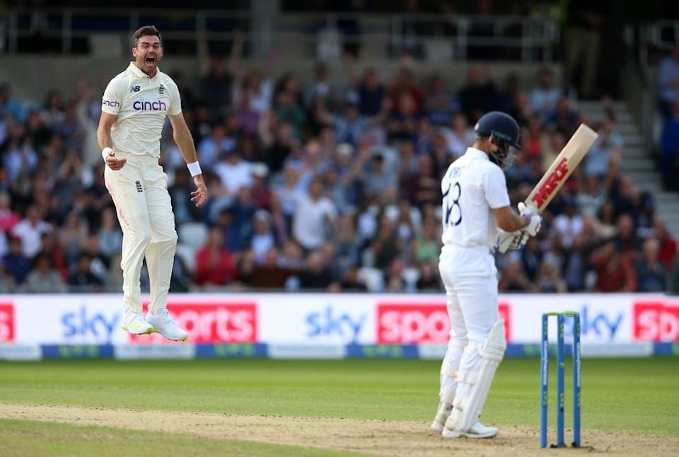 James Anderson took three wickets for England (Nigel French/PA) (PA Wire)