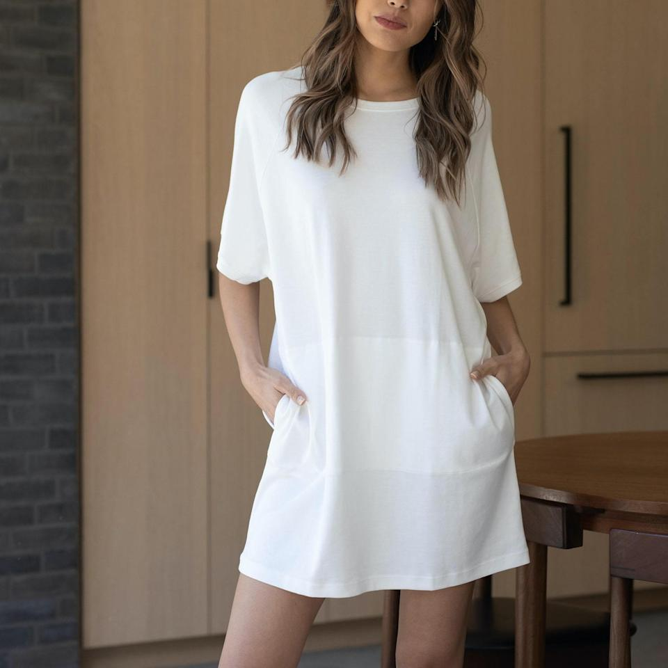 """<h2>Lunya Organic Pima Cotton Dress</h2><br>This much-nicer-than-it-needs-to-be sleep tunic is a major upgrade from the oversized Garfield tee that your mom has been rocking since the 90s. It's made from super-breathable, GOTS-certified organic Pima cotton, for a luxe wardrobe staple that's sure to please your picky mom.<br><br><strong>Lunya</strong> Organic Pima Dress, $, available at <a href=""""https://go.skimresources.com/?id=30283X879131&url=https%3A%2F%2Fwww.lunya.co%2Fproducts%2Forganic-pima-dress%3Fvariant%3D31349637349419"""" rel=""""nofollow noopener"""" target=""""_blank"""" data-ylk=""""slk:Lunya"""" class=""""link rapid-noclick-resp"""">Lunya</a>"""