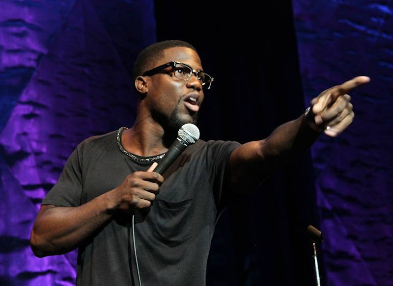 Comedian and actor Kevin Hart performs at HartBeat Weekend Comedy All All-Stars Show Hosted by Kevin Hart on Friday. August 23, 2013 at Circus Maximus Theatre at Ceasars Hotel & Casino in Atlantic City, New Jersey. (Photo by Arnold Turner/Invision/AP)