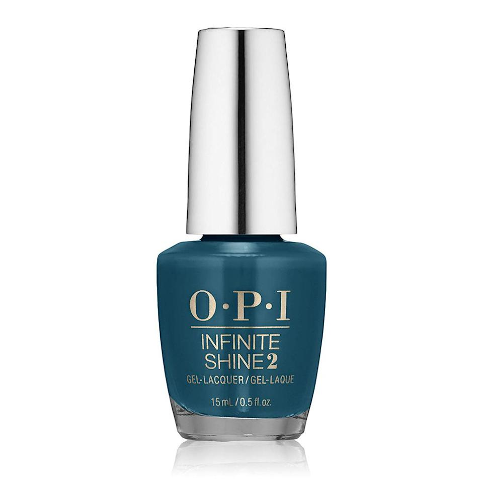 "<p><strong>OPI</strong></p><p>amazon.com</p><p><strong>$11.84</strong></p><p><a href=""http://www.amazon.com/dp/B002D4H0S6/?tag=syn-yahoo-20&ascsubtag=%5Bartid%7C2089.g.44%5Bsrc%7Cyahoo-us"" target=""_blank"">Shop Now</a></p><p>Mint green? Been there. Navy blue? Done that. This deep teal is a welcome breath of fresh air for fall, and still nails (see what we did there?) that nautical color scheme.</p>"