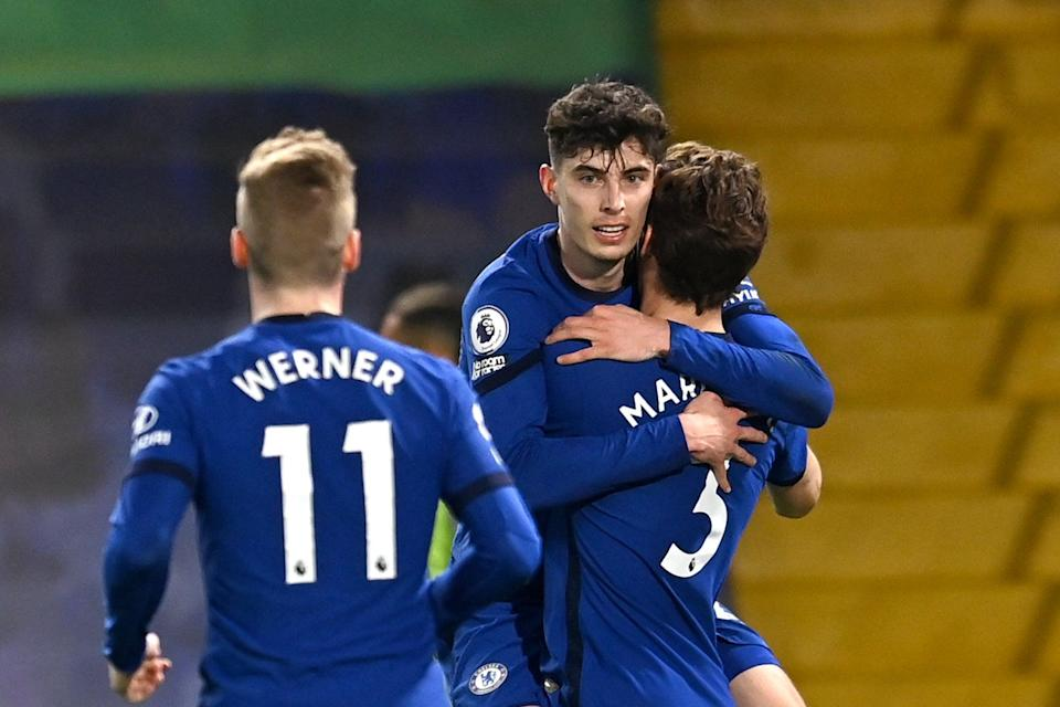 Havertz on songGetty Images