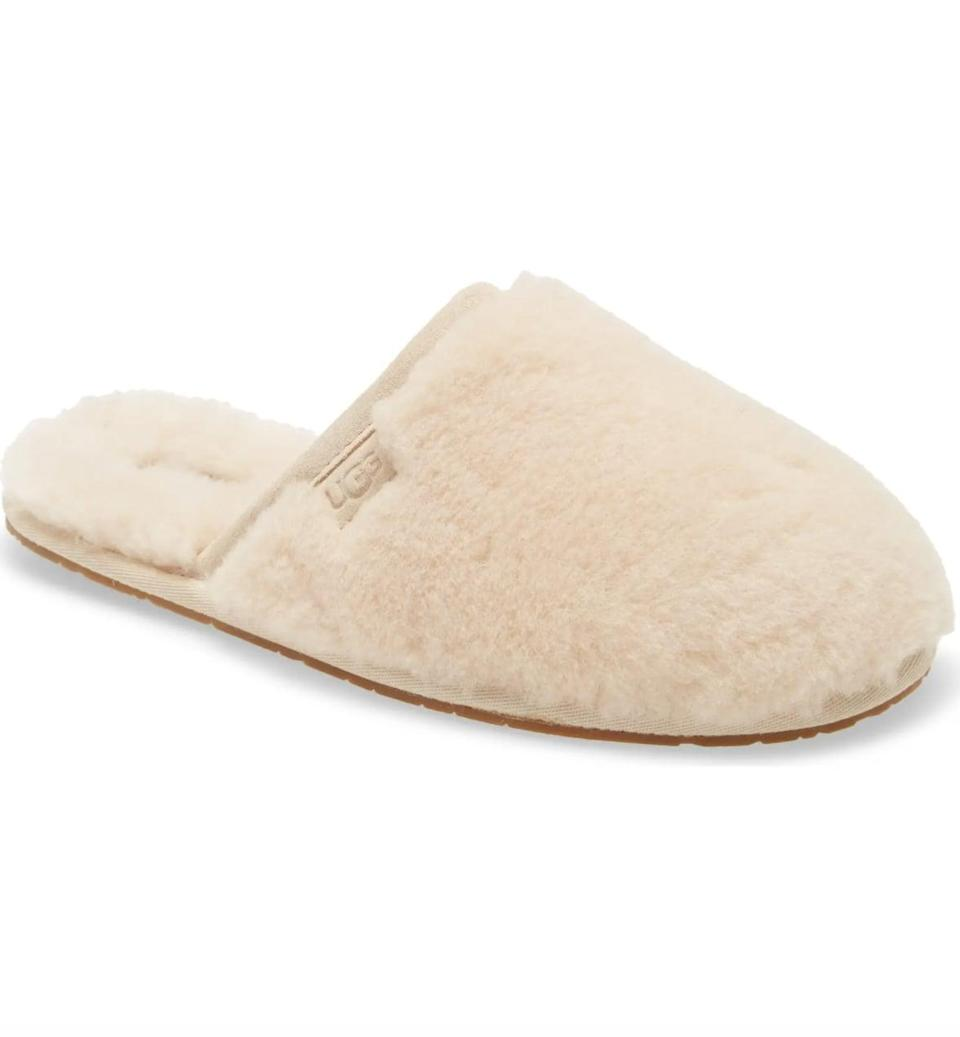 <p>We're firm believers that slippers always make for a great gift, because who doesn't want more? These cute <span>UGG Fluffette Slippers</span> ($90) are comfy and affordable and come in several color choices.</p>