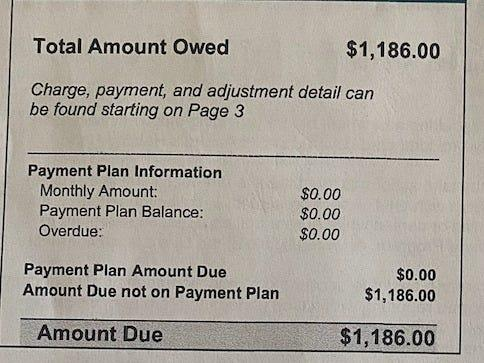 Lindsay Hill's medical bill. She tried to find out whether she had the coronavirus, but was never tested.