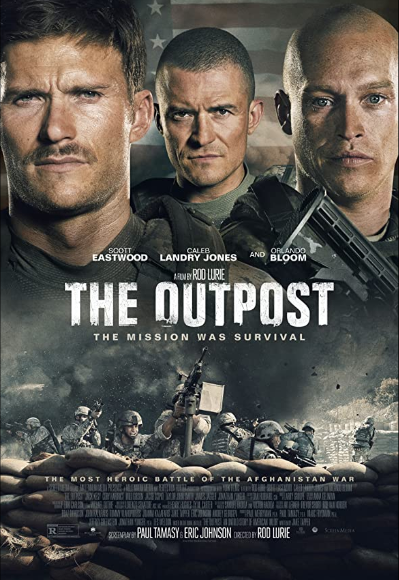 """<p>Based on <a href=""""https://www.amazon.com/Outpost-Untold-Story-American-Valor/dp/031618540X"""" rel=""""nofollow noopener"""" target=""""_blank"""" data-ylk=""""slk:the door-stopping book by Jake Tapper"""" class=""""link rapid-noclick-resp"""">the door-stopping book by Jake Tapper</a>, <em>The Outpost</em> chronicles the events of October 3, 2009 when 300 Taliban fighters assaulted an American outpost in Nuristan Province, Afghanistan, at the time one of the most dangerous regions for American forces. The film features several actors who took part in what would become the Battle of Kamdesh, delivering an intensity unmatched by any film on this list.</p>"""