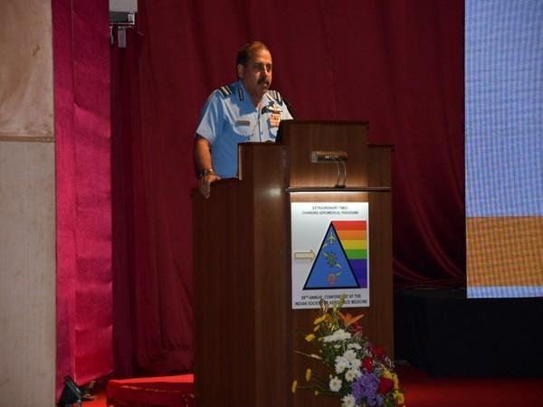 IAF Chief, RKS Bhadauria at an event in Bengaluru on Friday.